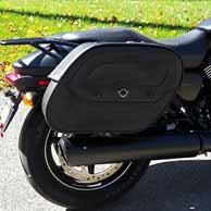 Andy Andrews's Harley Street 750 w/ Motorcycle Saddlebags