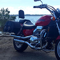 Colt's 99 Honda Magna 750 w/ Charger Leather Saddlebags