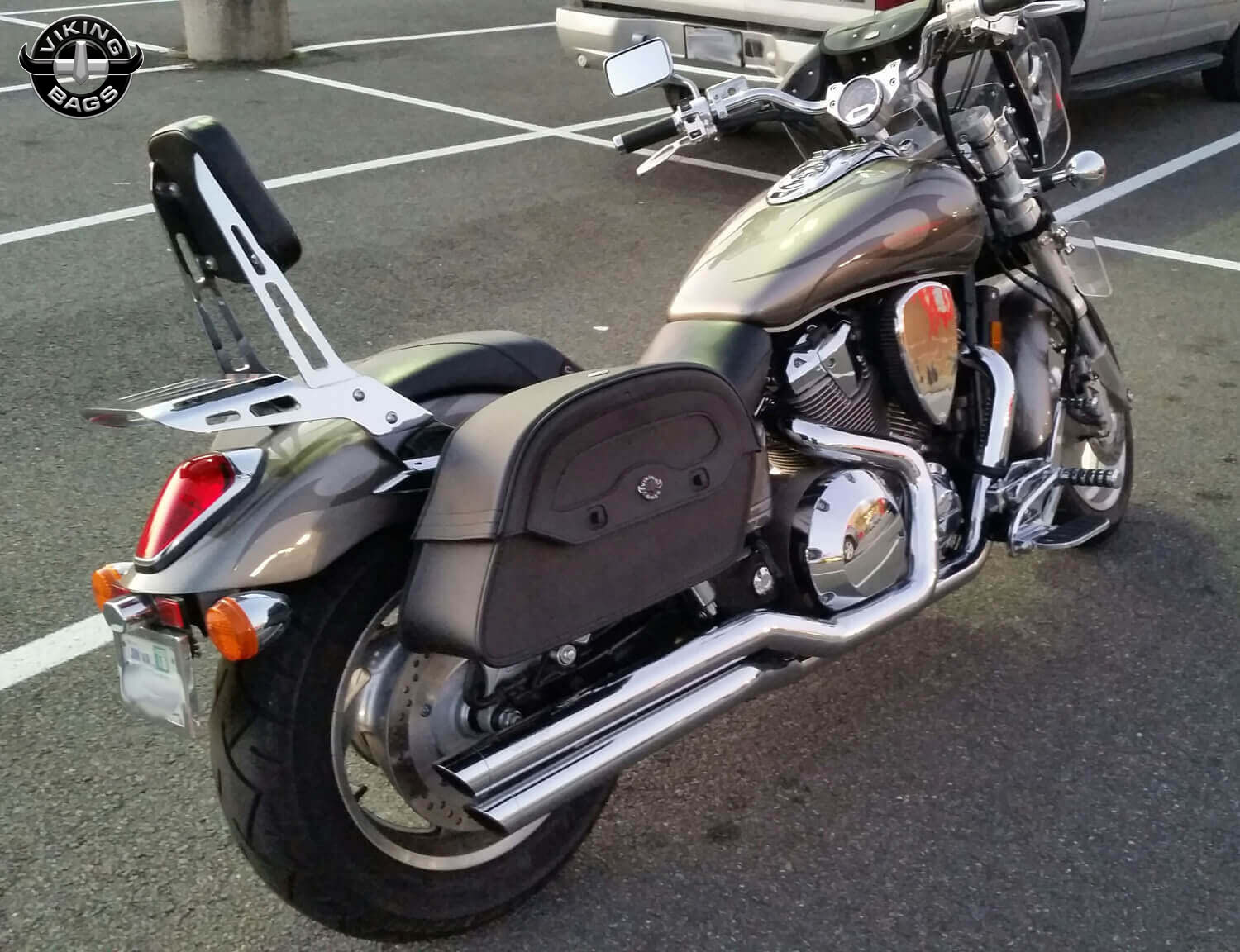 Honda vtx 1800 c motorcycle saddlebags large warrior from for Motor cycle saddle bags