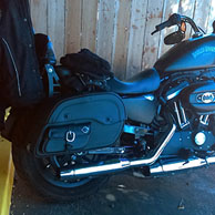 Jose Perez Harley Sportster Iron 883 w/ Motorcycle Saddlebags