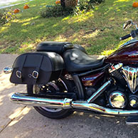 Justin's Yamaha V Star 950 w/ Charger Series Saddlebags