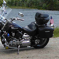 Mark's '07 Yamaha V-Star 1100 Custom w/ Lamellar Series Motorcycle Saddlebags