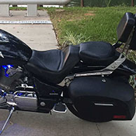 Mark's Honda VTX 1800 F w/ Lamellar Hard Saddlebags
