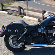 Triumph Strom w/ Charger Series Saddlebags