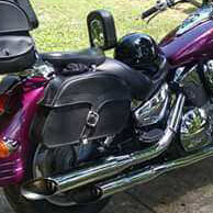 Reggie's Honda VTX 1300 R w/ Charger Single Strap Saddlebags