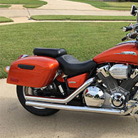 Robert's Honda VTX 1800c w/ Lamellar Series Hard Saddlebags
