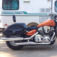 Ron's '04 Honda VTX 1300c w/ Ultimate Shape Motorcycle Leather Saddlebags