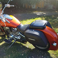 Tony's Honda VTX 1800N w/ Lamellar Hard Motorcycle Saddlebags
