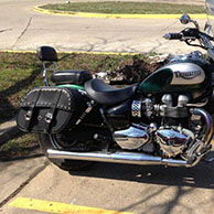 Triumph America w/ Charger Studded Saddlebags