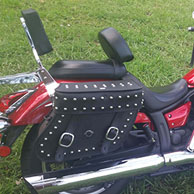 William's '14 Yamaha V-Star 950 w/ Concord Studded Motorcycle Saddlebags
